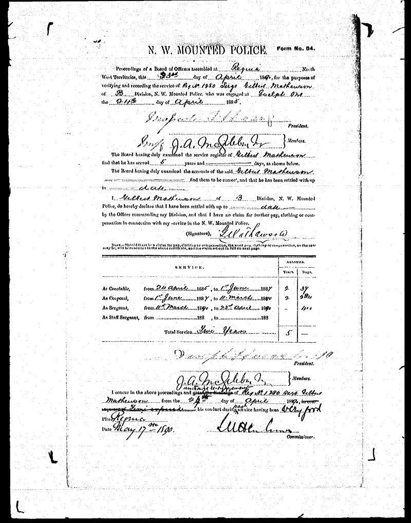 Digitized page of NWMP for Image No.: sf-01280.0032-v7