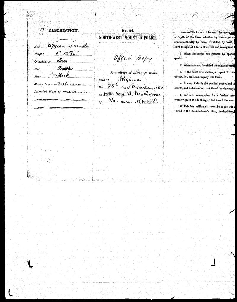 Digitized page of NWMP for Image No.: sf-01280.0036-v7