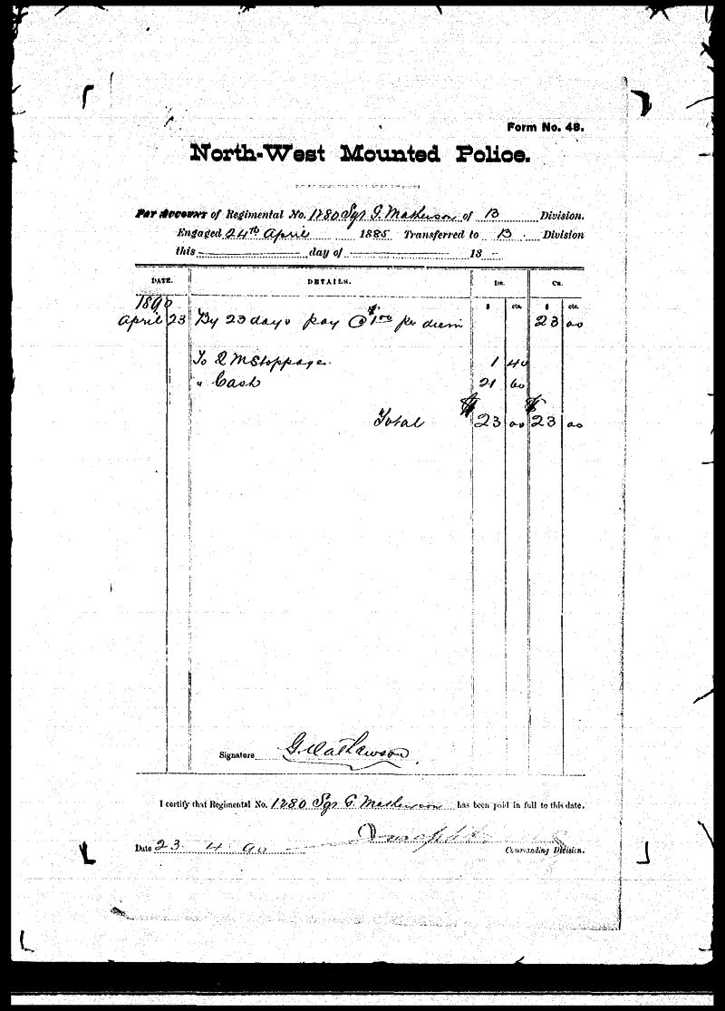 Digitized page of NWMP for Image No.: sf-01280.0040-v7