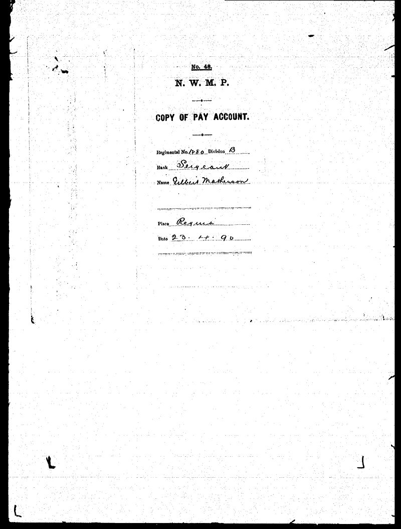 Digitized page of NWMP for Image No.: sf-01280.0041-v7