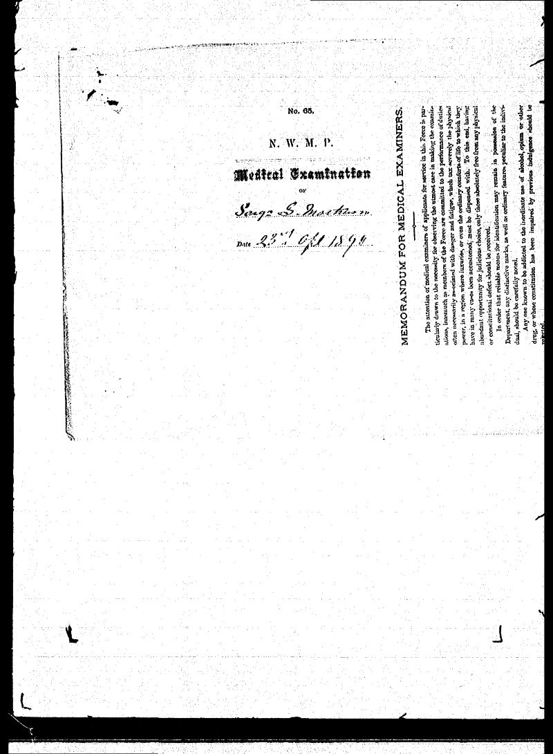Digitized page of NWMP for Image No.: sf-01280.0043-v7