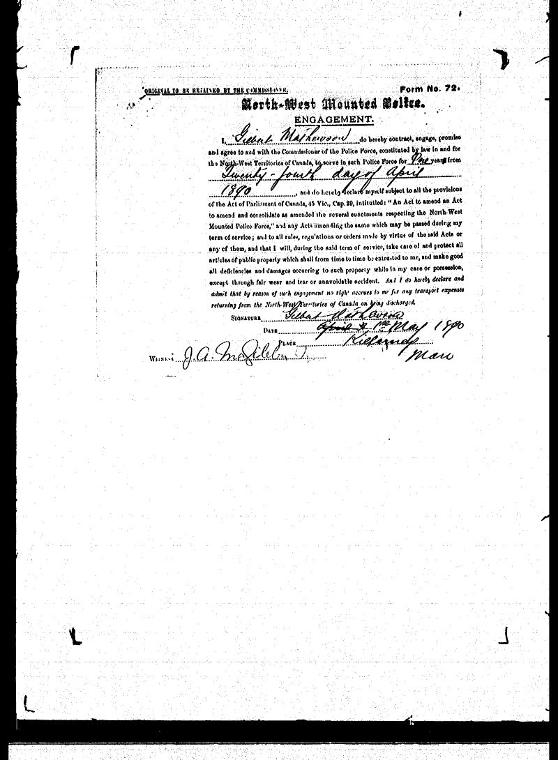 Digitized page of NWMP for Image No.: sf-01280.0046-v7