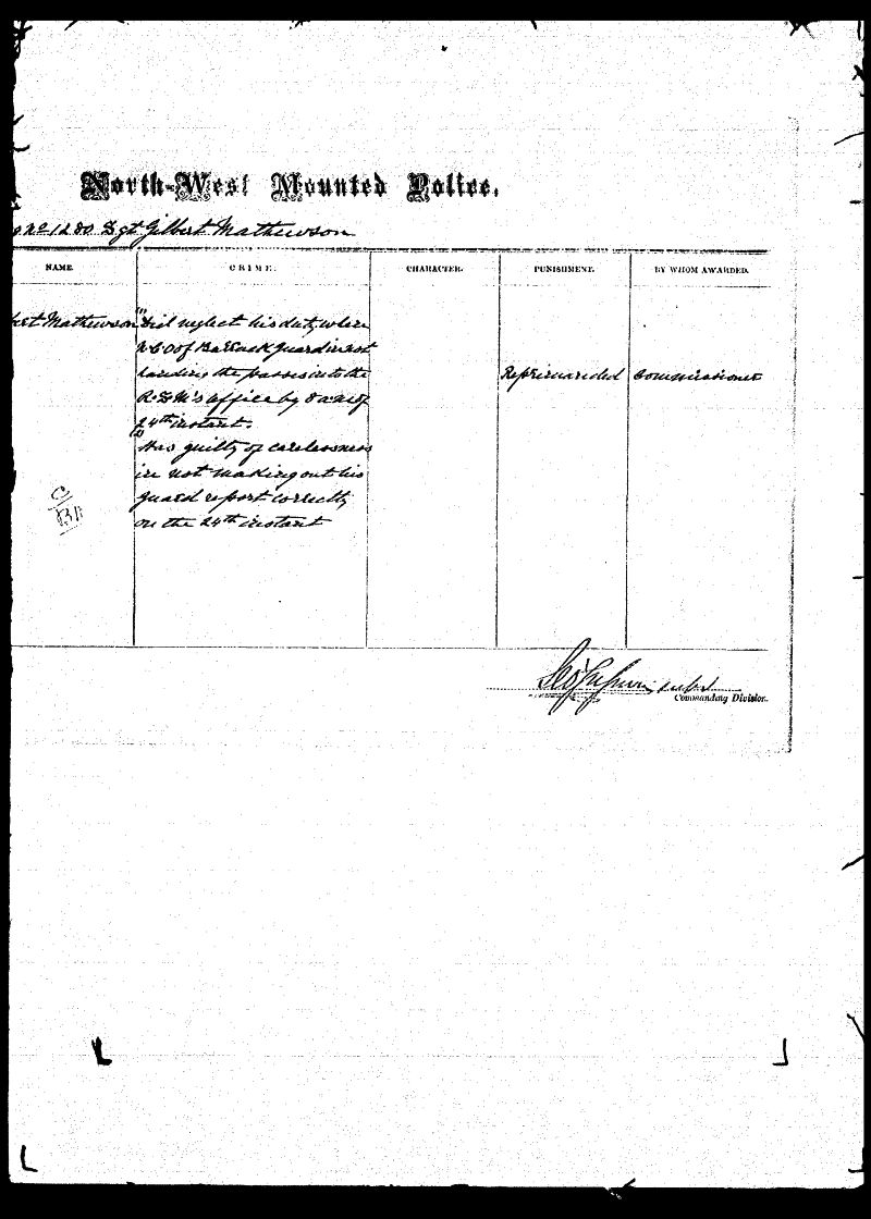 Digitized page of NWMP for Image No.: sf-01280.0052-v7