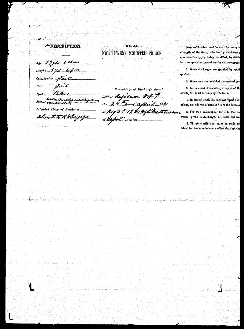Digitized page of NWMP for Image No.: sf-01280.0054-v7