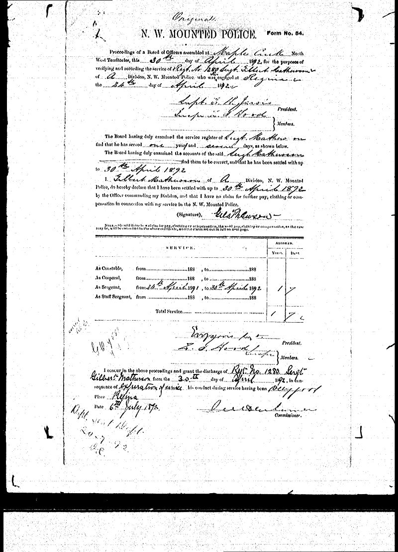 Digitized page of NWMP for Image No.: sf-01280.0068-v7