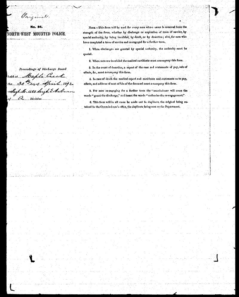Digitized page of NWMP for Image No.: sf-01280.0073-v7