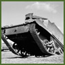 Army vehicle (Universal Carrier) being driven up a slope at the Ford Motor Co