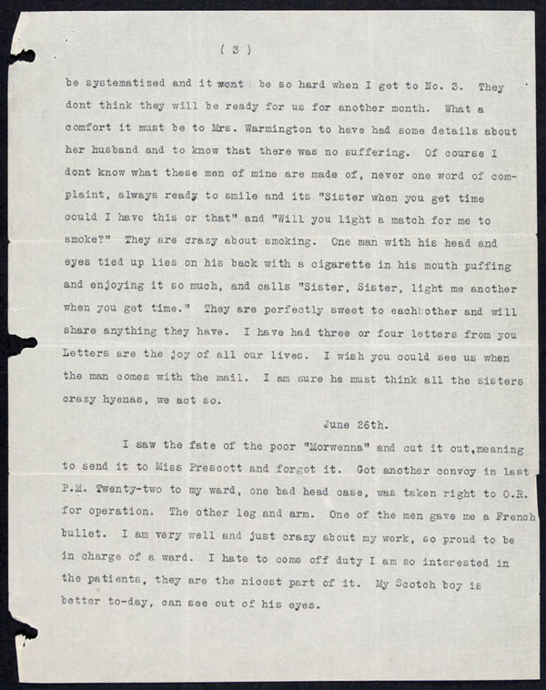 Letter - 15/06/1915 to Mother - Page 3