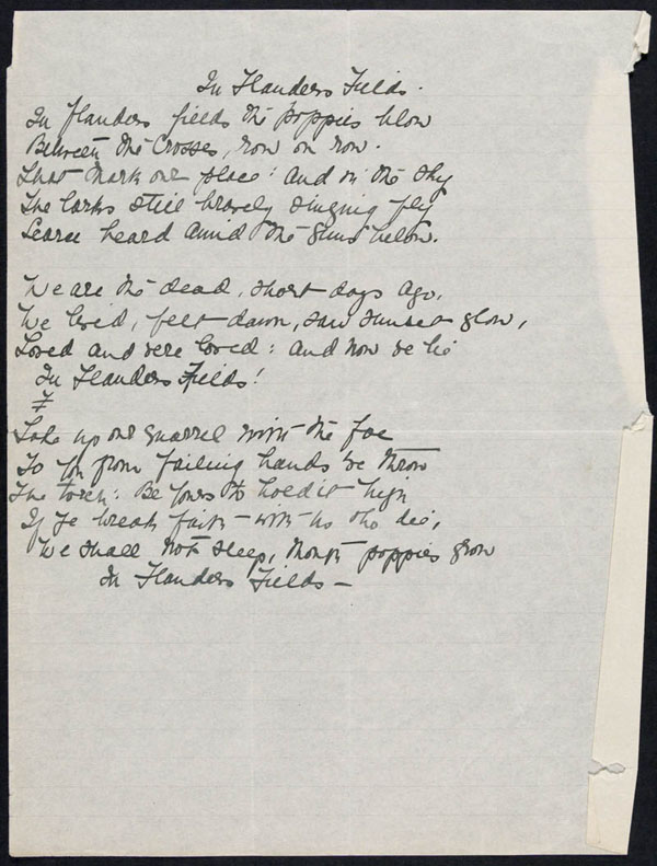 Copie de In Flanders Fields par John McCrae