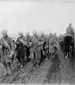 Photograph of Canadians returning from the trenches, the Somme, November 1916
