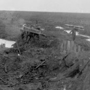 Canadians carrying trench mats, Battle of Passchendaele