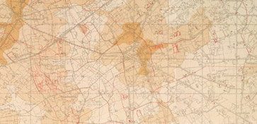Map of the approximate position of the British front line trenches at Waterdamhoek on October 12, 1917.