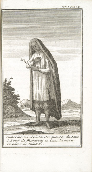 Engraving from book, HISTOIRE DE L'AM�RIQUE SEPTENTRIONALE