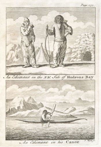 Engraving from book, A VOYAGE TO HUDSON'S BAY, BY THE DOBBS GALLEY AND CALIFORNIA, IN THE YEARS 1746 AND 1747, FOR DISCOVERING A NORTH WEST PASSAGE [. . .]