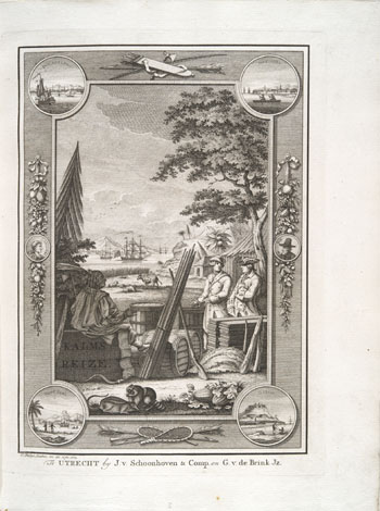 Engraving from book, REIS DOOR NOORD AMERIKA