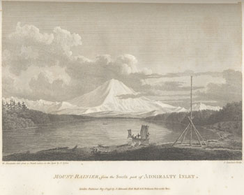 Engraving from book, A VOYAGE OF DISCOVERY TO THE NORTH PACIFIC OCEAN [. . .]