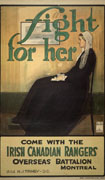 Colour poster with illustration of an old lady sitting in a rocking chair, as in the painting known as Whistler's Mother. Title at top in green and text at bottom in black and green