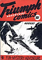 Cover of comic book, TRIUMPH ADVENTURE COMICS, number 1