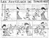 Comic strip, LES AVENTURES DE TIMOTHÉÉ, printed in newspaper, LA PATRIE, (October 15, 1904)