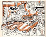 Panel from comic strip, PAUL HAROÏD, printed in magazine, MADE IN KÉBEC, number 4