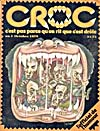 Cover of magazine, CROC, number 1