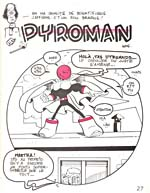Comic strip, PYROMAN, printed in magazine, GAGA COMIX, number 4