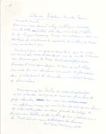 First page of manuscript of Lemelin's letter to Dr. Camille Laurin, Minister of State for Cultural Development, undated