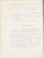 Page from Lemelin's journal, in which he describes his feelings after writing the conclusion to LES PLOUFFE, December 17, 1947, page 6