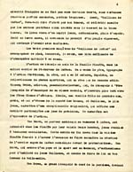 Page from synopsis of Lemelin's novel GUILLAUME DE QUÉBEC, submitted to the Guggenheim Foundation, French version, undated, page 2