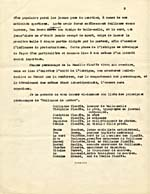 Page from synopsis of Lemelin's novel GUILLAUME DE QUÉBEC, submitted to the Guggenheim Foundation, French version, undated, page 3