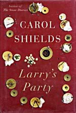 Cover of LARRY'S PARTY, c1997, with photograph of a table following a dinner party