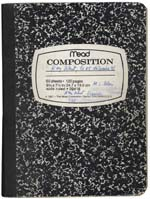 Cover of Blais' notebook, 1991