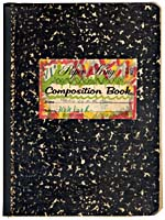 Cover of Blais' notebook VI, 1996