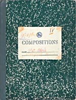 Cover of Blais' notebook IV, 1965
