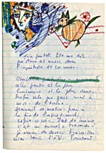 Page from Blais' notebook XI, 1968, with handwritten text and original artwork, [page 66]