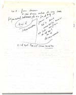 Page from Blais' orange notebook for VISIONS D'ANNA and LE SOURD, 1979, page 49