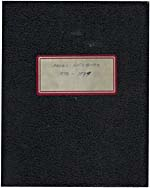 Cover of black notebook with red label bearing the words, ROUGH NOTEBOOK 1978-1979