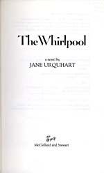 Title page of novel, THE WHIRLPOOL, 1986