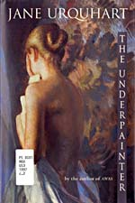 Cover of novel, THE UNDERPAINTER, with illustration of a semi-nude woman, seen from behind, 1997