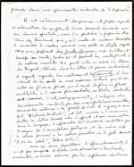 Third page of a handwritten manuscript of a lecture on Jean-Arthur Rimbaud, 1954