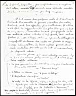Fourth page of a handwritten manuscript of a lecture on Jean-Arthur Rimbaud, 1954