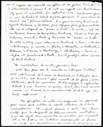 Second page of a handwritten manuscript of a lecture on Jean-Arthur Rimbaud, 1954
