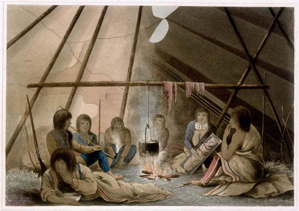 how to build a fire inside a teepee