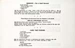 Page [6] du livre de cuisine OLD TIME RECIPES OF MANITOBA INDIANS qui présente trois recettes : pain bannock,  perdrix bouillie et pouding chômeur