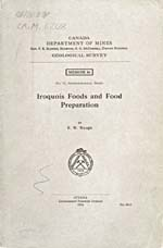 Cover of cookbook, IROQUOIS FOODS AND FOOD PREPARATION