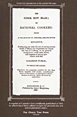 Page [4] of cookbook, THE COOK NOT MAD; OR RATIONAL COOKERY, with a full-size reproduction of the original title page as it appeared in 1831
