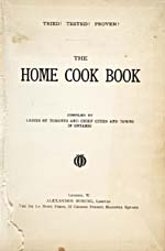 Title page of cookbook, THE HOME COOK BOOK