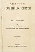 Title page of cookbook, PUBLIC SCHOOL HOUSEHOLD SCIENCE