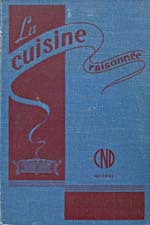 Cover of cookbook, LA CUISINE RAISONNÉE