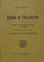 Cover of cookbook, HYGIÈNE DE L'ALIMENTATION ET PROPRIÉTÉS CHIMIQUES DES ALIMENTS